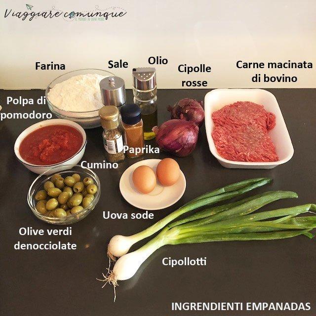 Empanadas ingredienti