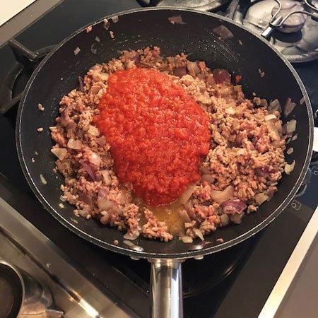 Empanadas polpa pomodoro