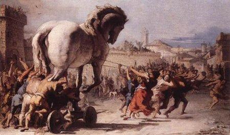 cavallo di Troia, Tiepolo